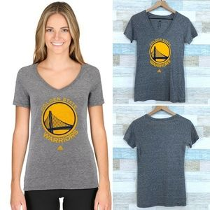 Adidas Golden State Warriors Tee Gray